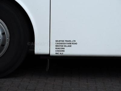 Selwyns, Runcorn VDL SB4000 Van Hool Alizee T9 123 YJ04 HHZ legal lettering
