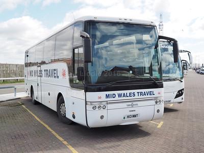 Mid Wales Travel, Penrhyncoch VDL SB400 Van Hool Alizee T9 H13 MWT