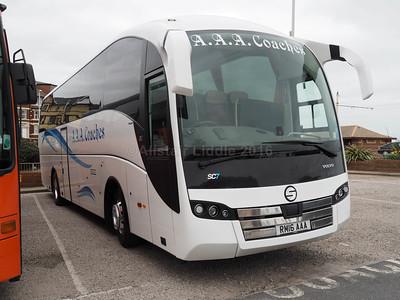 A.A.A. Coaches, East Calder Volvo B11R Sunsundegui SC7 RM16 AAA (2)