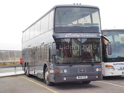 City Travel Yorkshire, Keighley Volvo B12(T) Van Hool Astrobel M414 VYD (2)