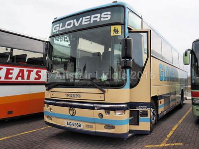 Glovers Coaches, Ashbourne Volvo B10M Plaxton Premier AIG 8358 (1)