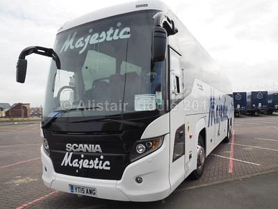 Majestic, Wolverhampton Scania Touring Higer YT15 AWG (2)
