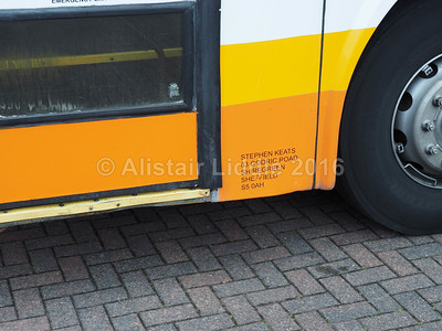 Keats of Sheffield, Volvo B10M Jonckheere Deauville KUI 2760 legal lettering