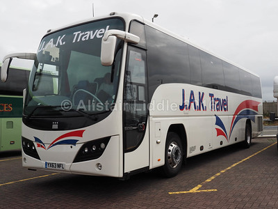 J.A.K. Travel, Keighley, Volvo B9R Plaxton Panther 2 YX63 NFL (1)