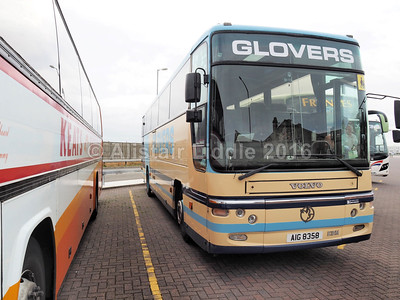 Glovers Coaches, Ashbourne Volvo B10M Plaxton Premier AIG 8358 (2)