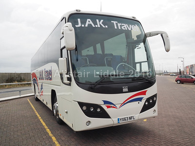 J.A.K. Travel, Keighley, Volvo B9R Plaxton Panther 2 YX63 NFL (2)
