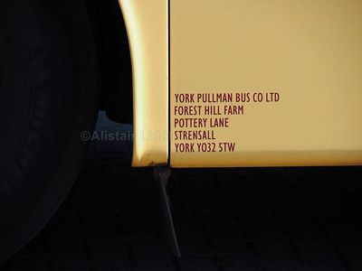 York Pullman, Strensall, York Van Hool T915 Alicron 777 OWX legal lettering