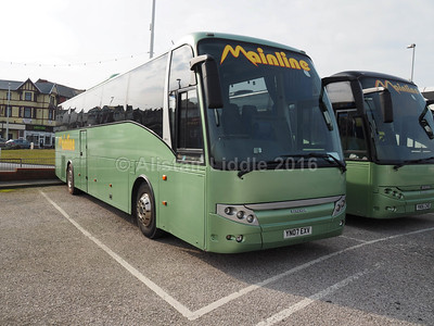 Mainline Coaches, Gilfach Goch Scania Berkhof Axial YN07 EXV & YN06 CHD