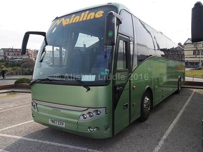 Mainline Coaches, Gilfach Goch Scania K380EB4 Berkhof Axial YN07 EXV (1)