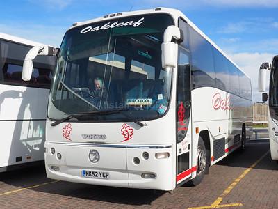 Oakleaf Coaches, Carlton, Sheffield Volvo B10M Plaxton Paragon MK52 YCP (1)