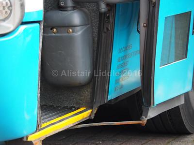 SO Caoches, Failsworth, Manchester Scania K114IB4 Irizar Century YN53 OZH legal lettering