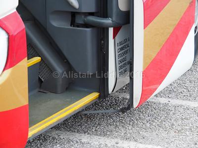 Bullocks, Cheadle Scania Irizar PB BUI 174 legal lettering