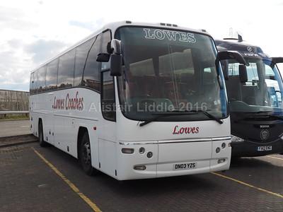 Lowes Coaches, Hucknall Volvo B12B Plaxton Panther DN03 YZS (2)