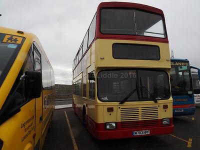 Pilkington Bus, Accrington Volvo Olympian East Lancs M703 HPF (2)