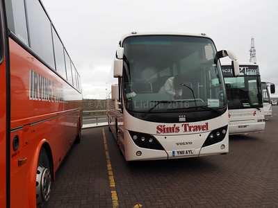 Sim's Travel, Boot, Cumbria Volvo B9R Plaxton Panther 2 YN11 AYL (2)