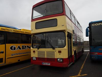 Pilkington Bus, Accrington Volvo Olympian East Lancs M703 HPF (1)