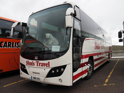 Sim's Travel, Boot, Cumbria Volvo B9R Plaxton Panther 2 YN11 AYL (1)