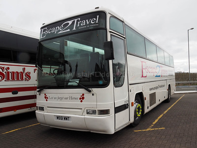 Escape 2 Travel, Barrow-in-Furness Volvo B10M Plaxton Premiere  M881 WWT (1)