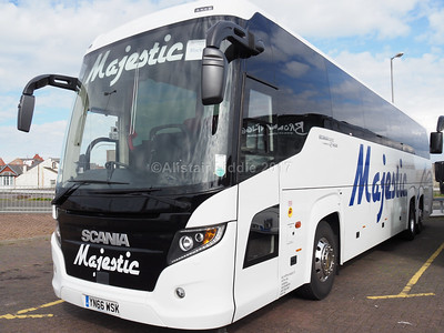 Majestic Travel, Wolverhampton Scania Touring, Higer body YN66 WSK (2)