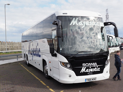 Majestic Travel, Wolverhampton Scania Touring, Higer body YN66 WSK (1)