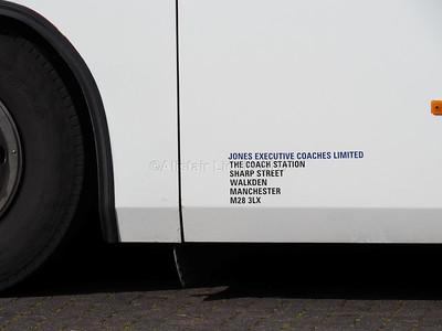 Jones Executive Coaches, Manchester Irisbus, Beulas 555 LJX legal lettering