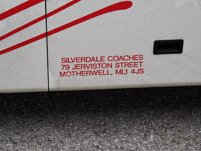 Silverdale Coaches, Motherwell King Long XMQ6127 BX09 LLF legal lettering