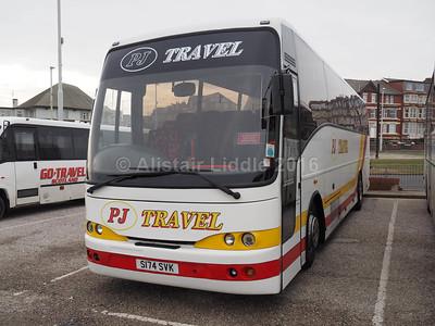 PJ Travel, Clydebank Volvo B10M Jonckheere Mistral S174 SVK (2)