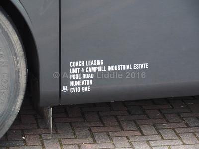 Coach Leasing, Nuneaton Mercedes- Benz Tourismo BT15 KMZ legal lettering