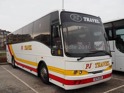PJ Travel, Clydebank Volvo B10M Jonckheere Mistral S174 SVK (1)