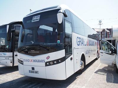 Olympia Travel, Wigan Volvo B11R Jonckheere SHV BU16 UWY Grand UK Holidays livery (2)