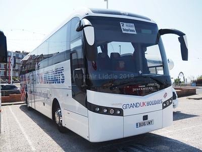 Olympia Travel, Wigan Volvo B11R Jonckheere SHV BU16 UWY Grand UK Holidays livery (1)