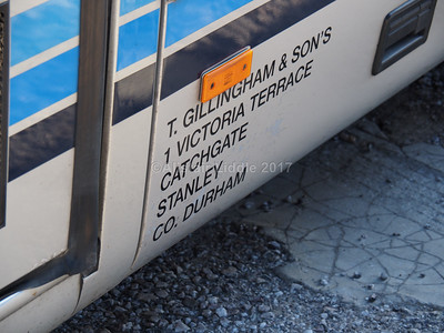 Gillingham's, Stanley Mercedes-Benz Vario, Plaxton Cheetah YN59 BKO legal lettering