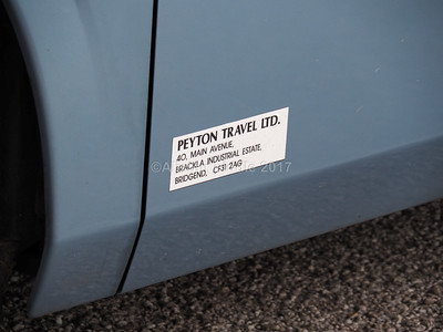Peyton Travel, Bridgend Scania K360EB4, Irizar i6 YT12 YUB legal lettering