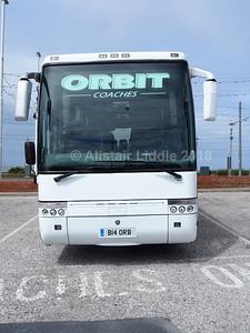 Orbit Coaches, Leicester Scania L94 Van Hool Alizee B14 ORB (2)