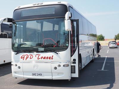 GPD Travel, Heywood Volvo B12M Plaxton Paragon GRZ 2401 (2)