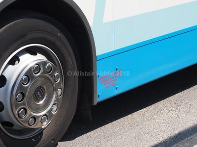 Dewhirst Coaches, Bradford ADL Enviro 400 SN16 ORW legal lettering