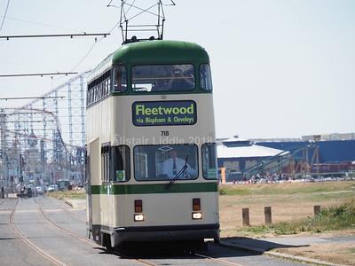 Blackpool Heritage Trams & Gynn Square Coach Park