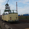 Blackpool Transport Boat car 230 leaving Little Bispham circle on a heritage run (3)