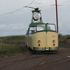 Blackpool Transport Boat car 230 leaving Little Bispham circle on a heritage run (2)