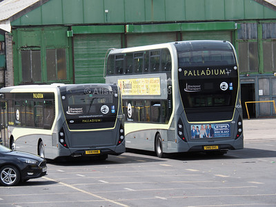 Blackpool Transport Enviro 200 222 YX18 KWB & Enviro 400 406 SN16 OVG