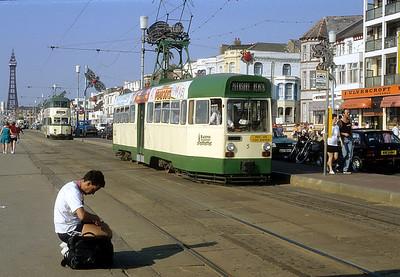 Blackpool Transport 005 Promenade Blackpool Sep 91