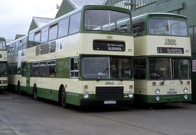 Blackpool Transport 372 Depot Blackpool May 88