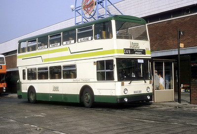 Blackpool Transport 363 Middleton Bus Stn Sep 87