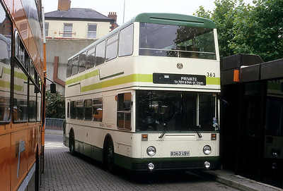 Blackpool Transport 363 Stockport Bus Stn Sep 86