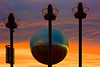 Promenade Mirrorball at Sunset,  Blackpool