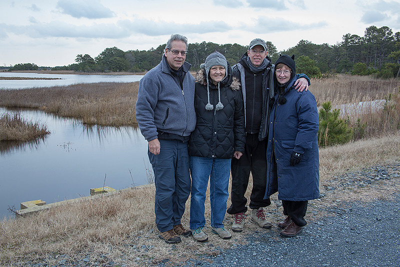 Dave, Cathy, Becky, and me - Dec 2014