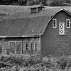 b-w barn double doors side view