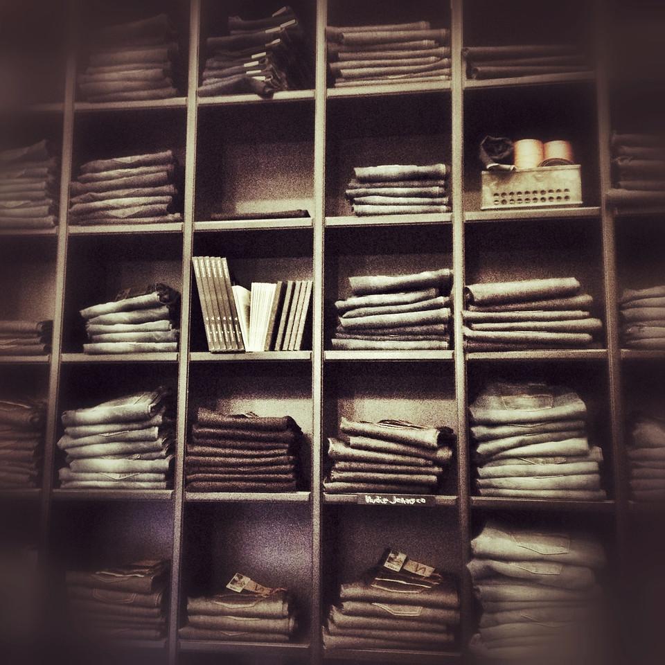 Nudie jeans shelves