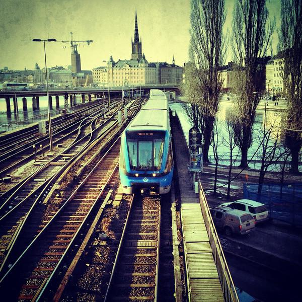 Tunnelbana vid Slussen