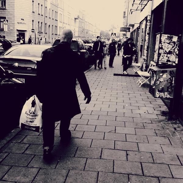 Man på gatan